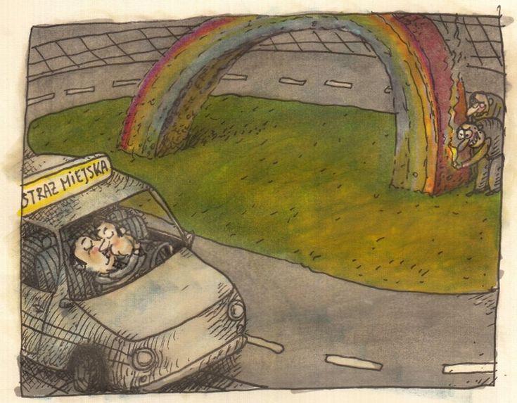 Marek Raczkowski dla Gazeta.pl - 11.08.2014 - rys. Marek Raczkowski art comics warsaw rainbow