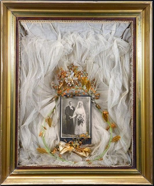 Bridal Veil Shadow Box-This is one I found online but I have two from relatives like this.