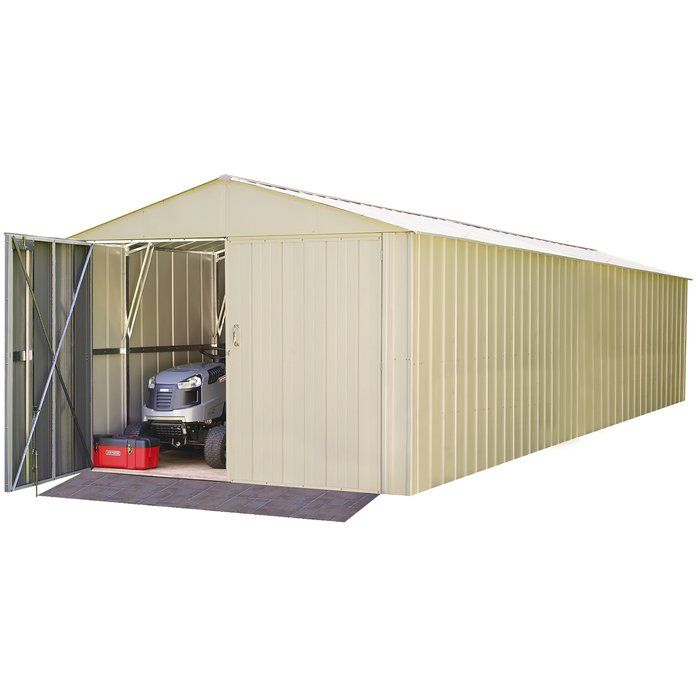 Commander 10 Ft W X 30 Ft D Metal Storage Shed Metal Storage Sheds Bike Shed Shed