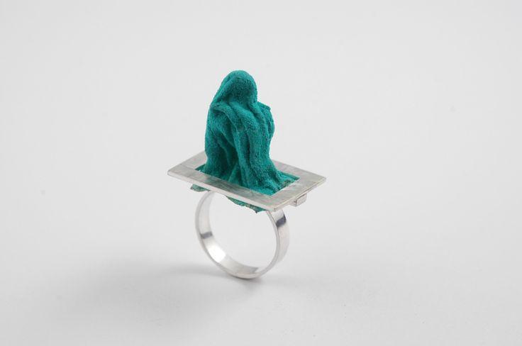 Adelina Petcan Idea Silver, Fabric, Pigment, Paper glue, Ring 2015