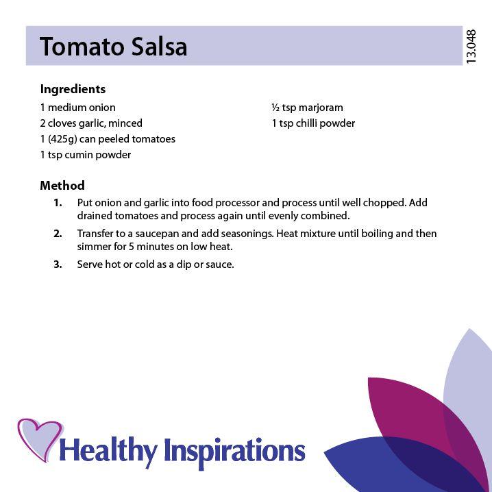 Tomato Salsa #healthyinspirations #healthyrecipes
