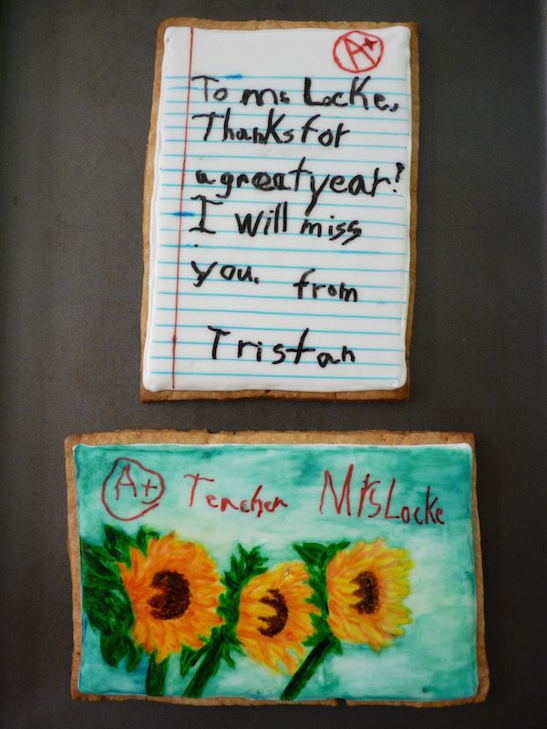 Swoon For Food: Year-End Teacher Gift: Personalized Thank You Cookie Note