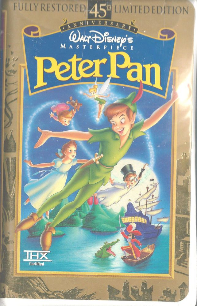 Peter Pan (VHS, 1998, 45th Anniversary Limited Edition ...
