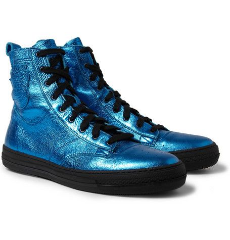 Foil boots by Burberry #fashion #mrporter #shoes #burberry #style #boots #foil #metallic #menswear #fashion