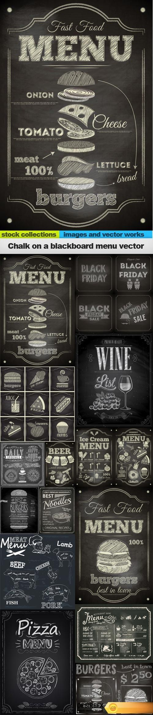 Find your Grapfix Desire With US http://www.desirefx.me/chalk-on-a-blackboard-menu-vector-15-x-eps/