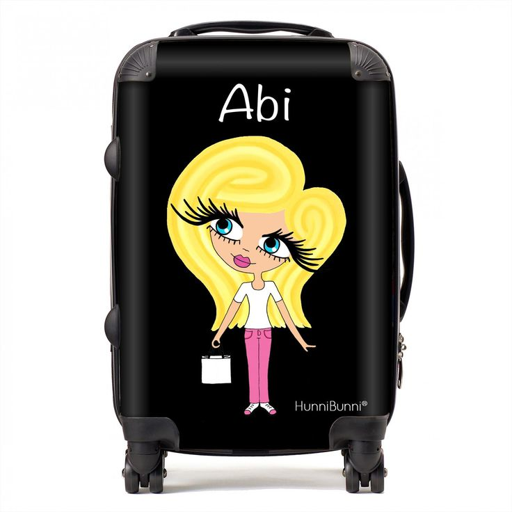 HunniBunni Little Miss Personalised Black Background Suitcase