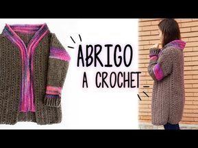 Crochet abrigo cardigan