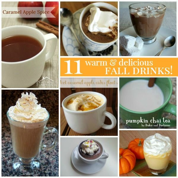 11 Warm And Delicious Fall Drinks! All a must