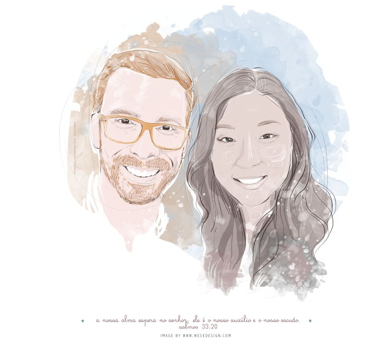 #illustration #couple #love #watercolor   Pin from wesedesign.com
