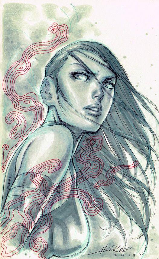 Psylocke by Alvin Lee *