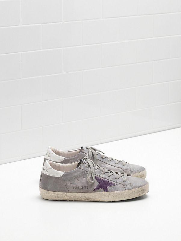 best website 27e8d c33d5 Sneakers Golden Goose Superstar - GGDB Superstar Homme Gris Violet