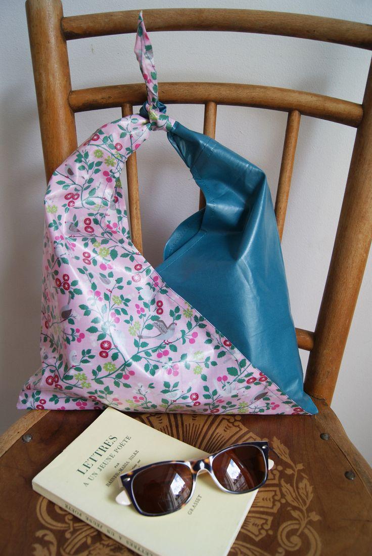 Tissu enduit Frou-Frou Mercerie Contemporaine. DIY sac enduit