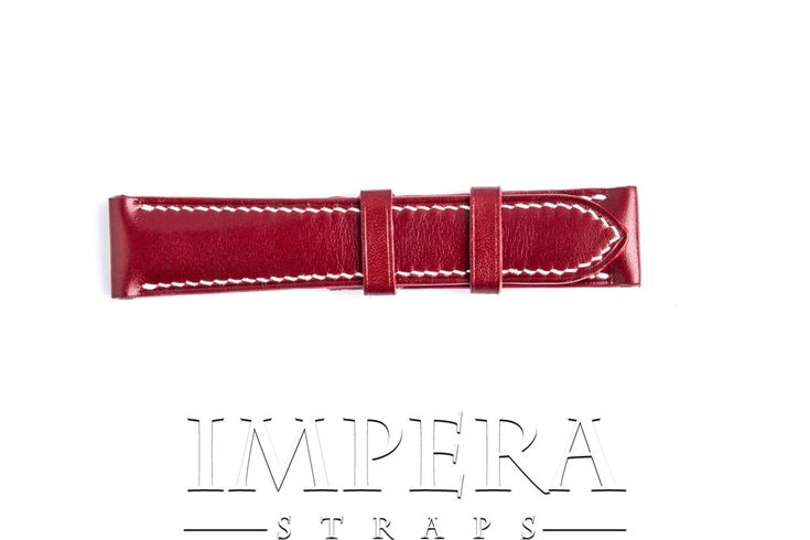 Vegetable Tanned Red Genuine Leather Watch Strap,https://www.imperastraps.com