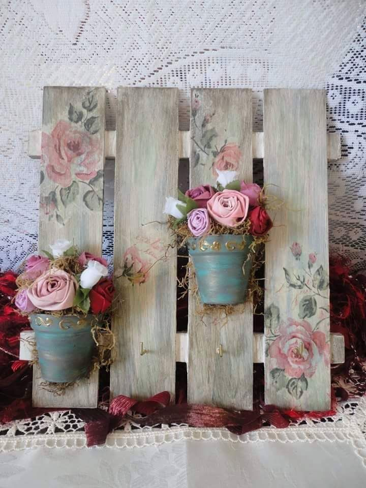 10 best cuadros machimbre images on pinterest decorative - Cuadros shabby chic ...
