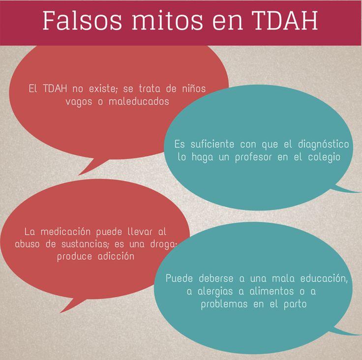 Algunos Falsos mitos en el tratamiento del TDAH.