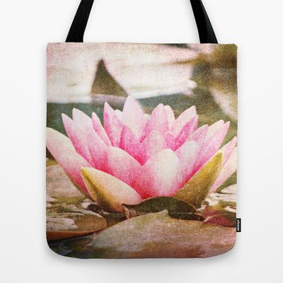 Lotus Tote Bag by Around the Island Photography