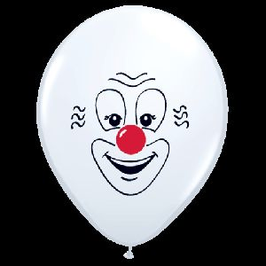 Clown Face Classic 50  Latex Party Balloons