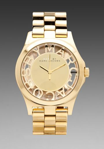 Marc by Marc Jacobs Henry Skeleton Watch in Gold