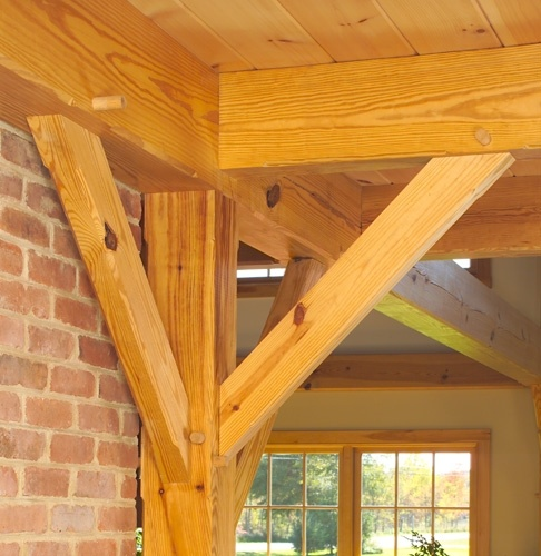50 best images about post and beam on pinterest for Timber frame sunroom addition