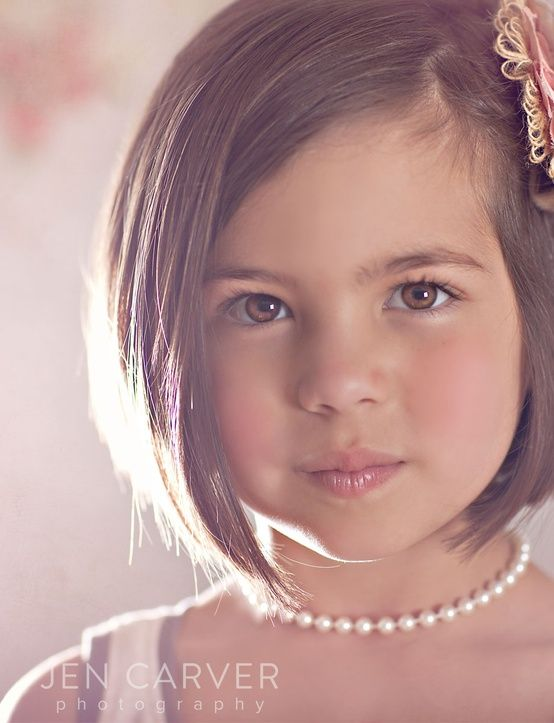 Beautiful little girl hair cut