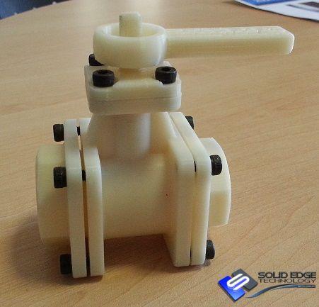 Valve assembly model.