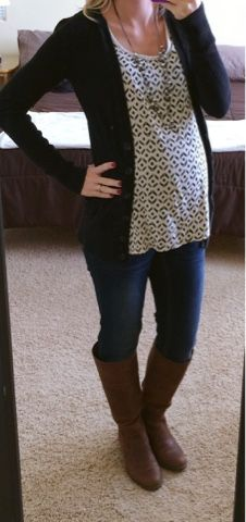 Thrifty Wife, Happy Life: What I Wore~ Maternity Style