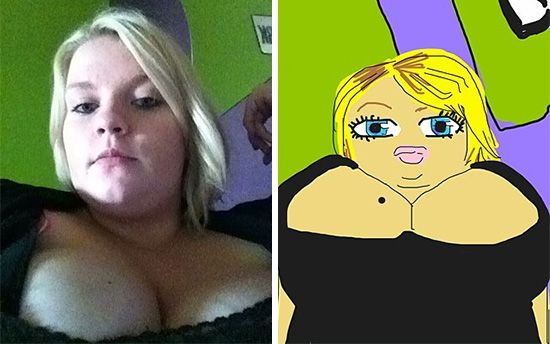 LOL!! click on the link...  http://www.sunnyskyz.com/blog/364/People-Post-Selfies-Other-People-Draw-Them-I-Can-t-Stop-Laughing