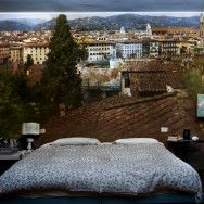 Camera Obscura: View of Florence Looking Northwest Inside Bedroom. Italy, 2009