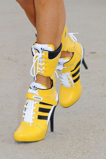 Adidas sneakers get the stiletto treatment.