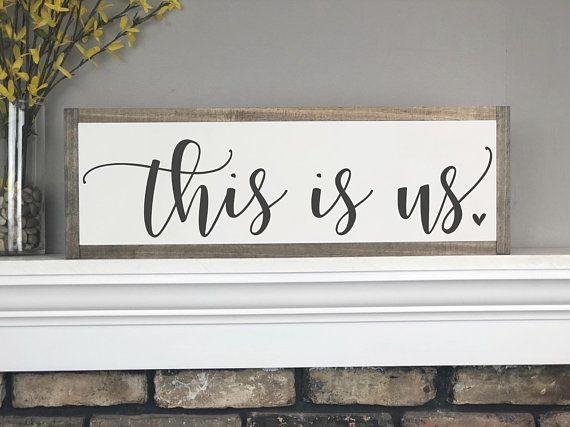 This Is Us Sign Wood Sign This Is Us Sign Wood Signs With Sayings Modern Farmhouse Home Decor Framed Signs Wa With Images Room Signs Wall Decor Living Room Wall Signs