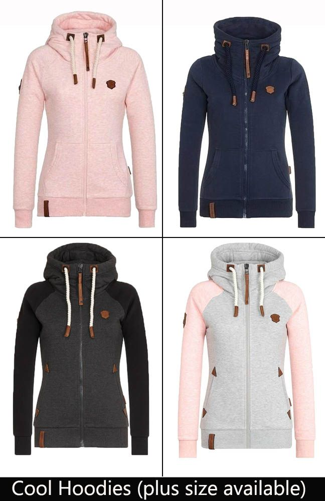 Fashion hoodies for fall & winter outfits. Choose your colors (plus size available)