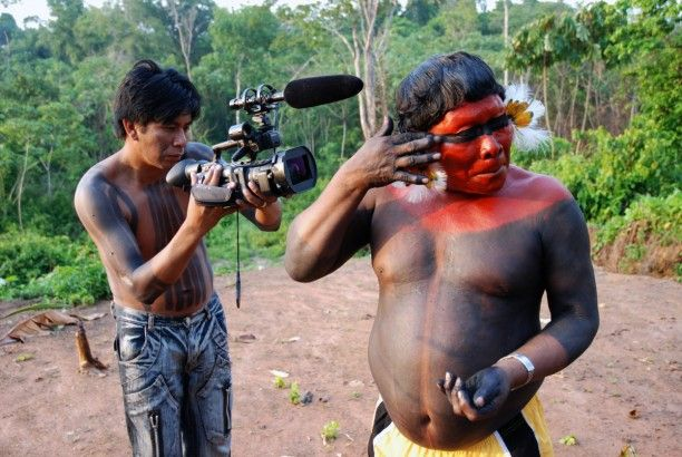 Cineasta do Vídeo nas Aldeias em ação. Foto: Divulgação