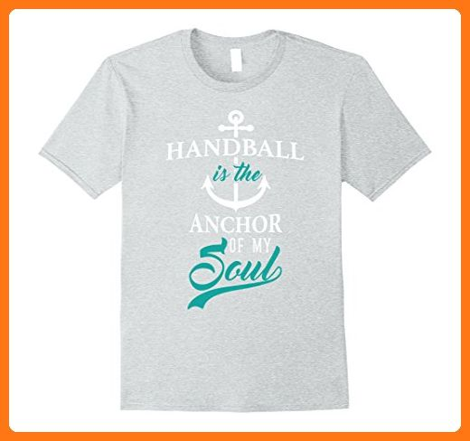 Mens Handball Is The Anchor of My Soul Funny Nautical T-Shirt XL Heather Grey (*Partner Link)