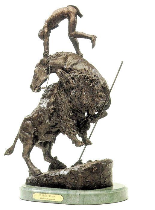 Remington's Buffalo Bronze Sculpture | Remington Bronze ...