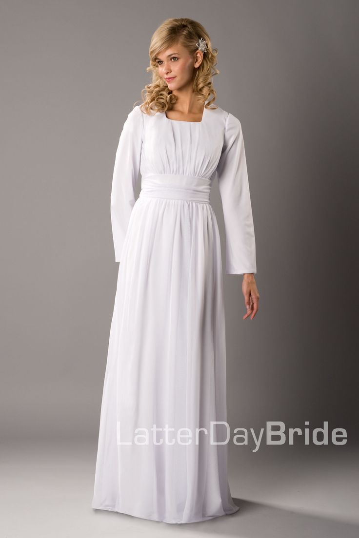 Modest wedding dress cordoba latterdaybride prom for Modest wedding dresses for sale