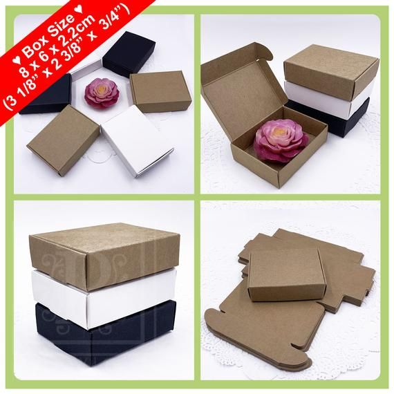 25pcs – Rectangle Soap Boxes, Wedding Favor Boxes, Party Favor Boxes, Gift Boxes, Jewelries Boxes, S