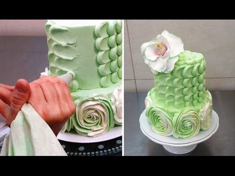 Buttercream Cake Decorating Tip. Easy and Fast Technique by CakesStepbyStep. - YouTube