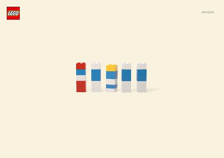 Minimal Lego Cartoon Characters: The Smurfs