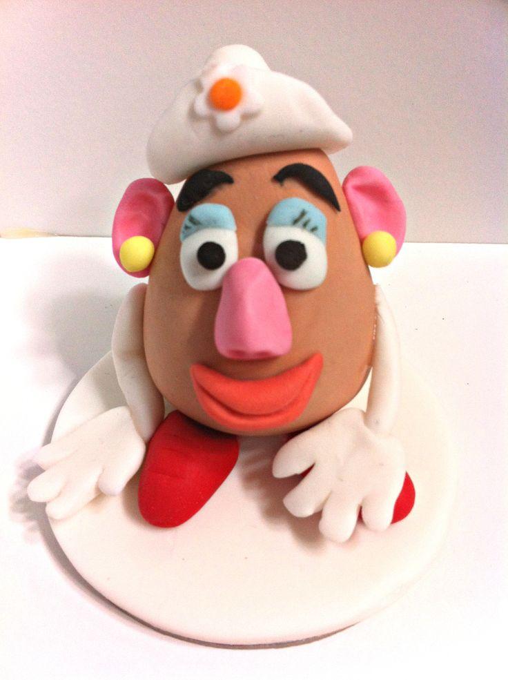Mrs. Potato Head cake toppper.
