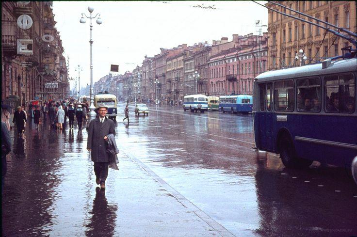 Ленинград после дождя, 1963 год.