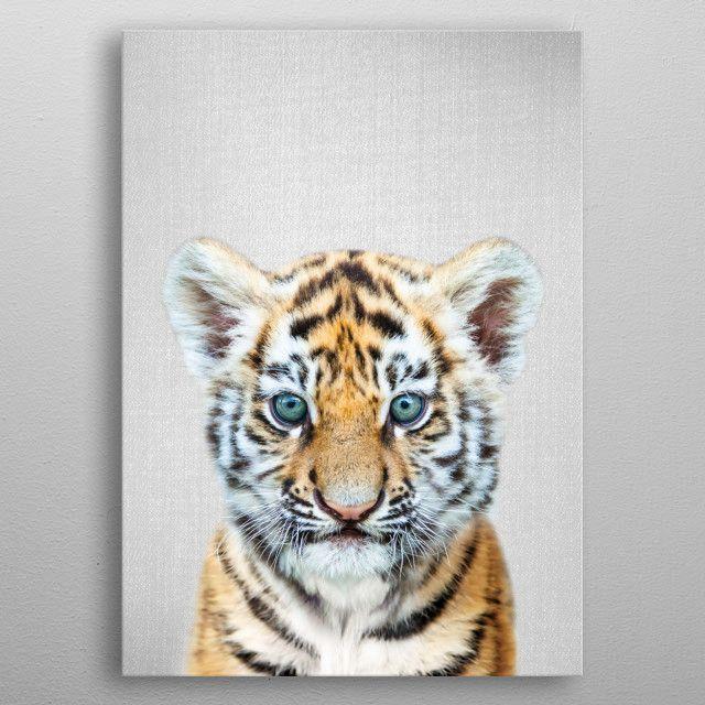 Animal Colorful Peekaboo Print Metal Wallart Poster Walldecor Homedecor Art Nursery Baby Tiger In 2020 Nursery Animal Prints Animal Canvas Noir Gallery