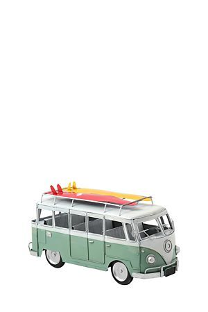 "This metal decorative vintage kombi with surfboard, is a great addition to any office or living area.<div class=""pdpDescContent""><BR /><b class=""pdpDesc"">Dimensions:</b><BR />L30xW13xH15 cm</div>"