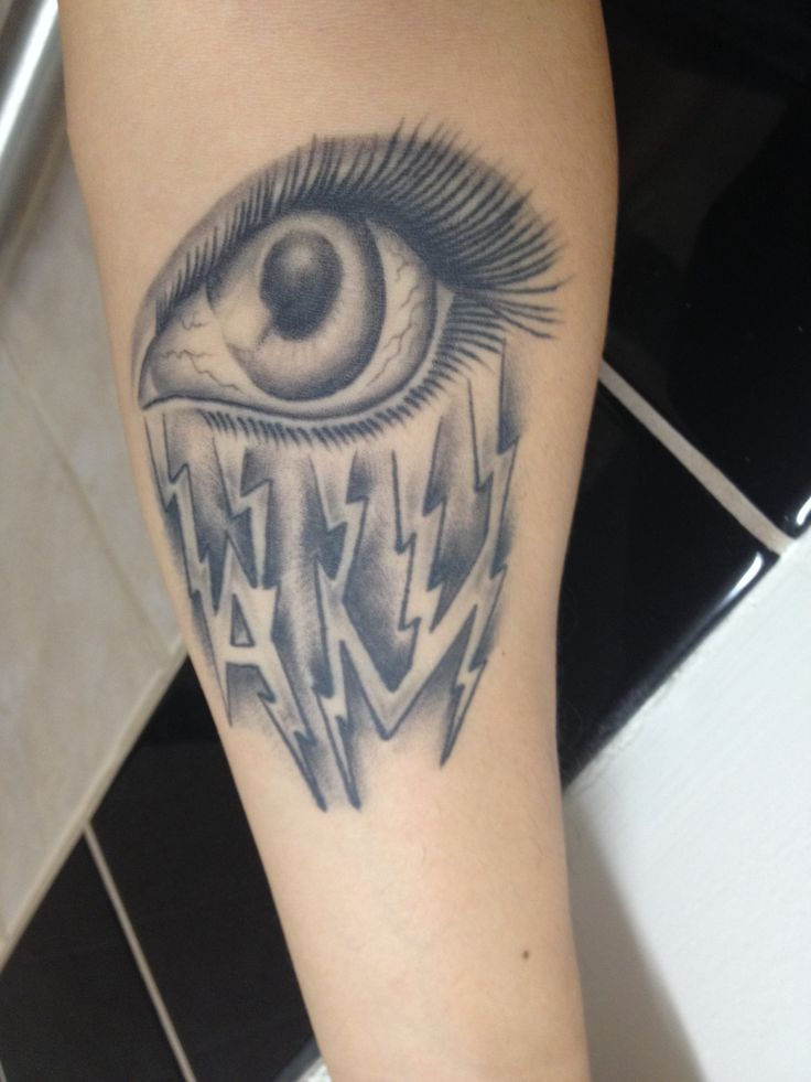 My arctic monkeys crying lightning tattoo ink for Ink monkeys tattoo