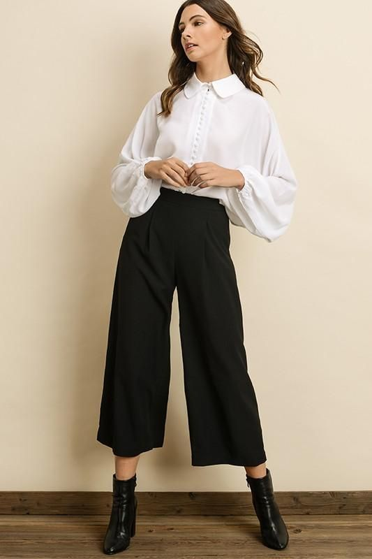 ea27dbde41 Throw on a pair of booties or heels with the Pleated Culottes to create a  fun and elegant look that emphasizes your cool cropped pants!