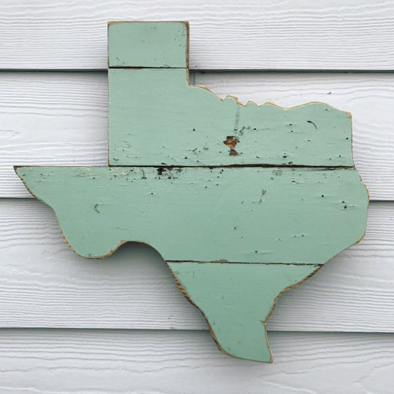 Reclaimed Wood Texas Sign Rustic State Outline by ATXFrontporch