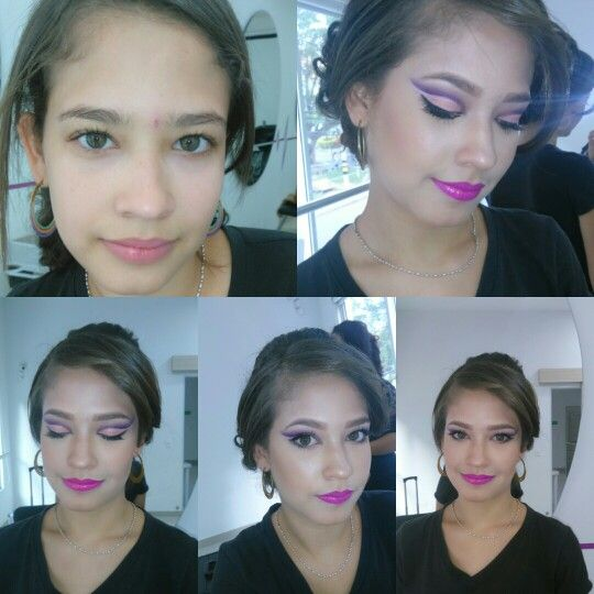 Makeup. Noche