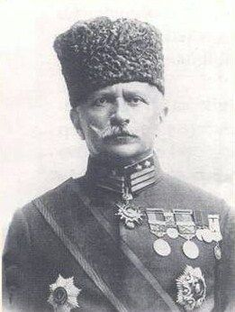 "Umar Fakhr ud-Din Pasha better known as Fakhri Pasha was the commander of Ottoman army and governor of Medina from 1916 to 1919. He was nicknamed ""The Lion of the Desert"" and ""The Tiger of the Desert"" by the British for his patriotism in Medina."