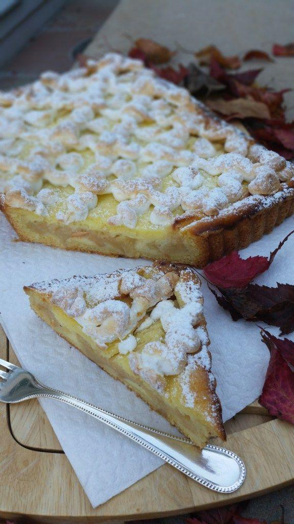 Apfel Cheesecake mit Baisertropfen #ichbacksmir #apfelkuchen #apple