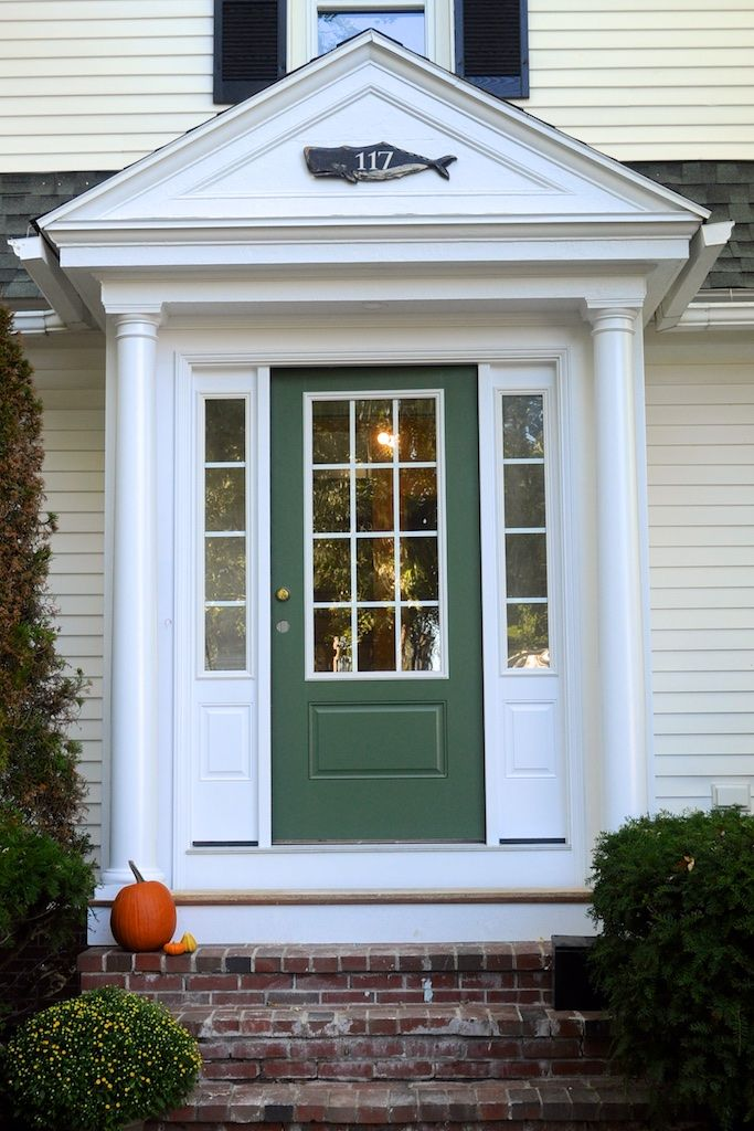 Love the whale house numbers above the new door. Via Updating a 1930s Colonial & 53 best Doors images on Pinterest | Exterior homes House exteriors ...