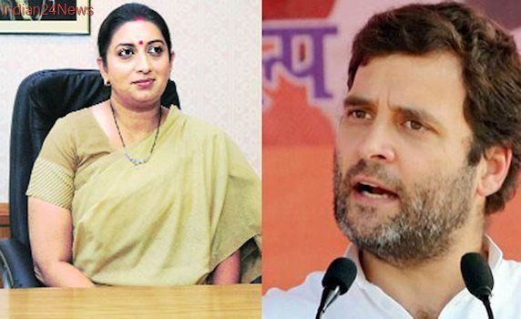 'No prizes for guessing who was inspired by Hitler', Smriti Irani tells Rahul Gandhi